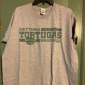 Daytona Tortugas Baseball T-Shirt ,size XL